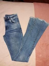 Calça jeans pantalona 38