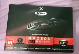 Placa de vídeo RX580 8GB XFX Estado de nova.
