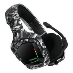 Headset Gamer Onikuma K20 Camuflado Com Led Rgb - Loja Natan Abreu