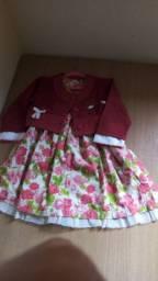Vestido com bolero Tam 2 R$50,00