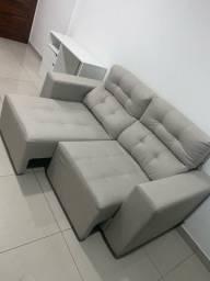 Sofá 02 lugares, reclinável, confortável