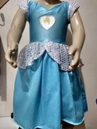 Vestido cinderela 12 meses
