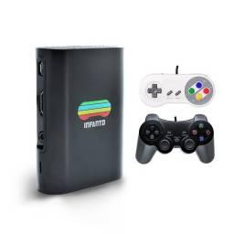 Console Infanto 3 - Video Game Retrô com 20 mil jogos antigos (2 controles) c/ NFe MS