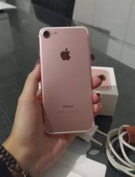 iPhone 7 32 gb rosé com caixa e nota fiscal