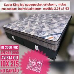 Super King #@# CAMA SUPER KING+ 2 TRAvesseiros de BRINde