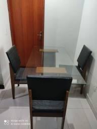 Vendo mesa de vidro com 3 cadeiras wats * Tocantins MG