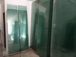 Chapas de vidro e portas