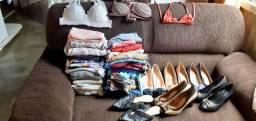 Vendo lote de roupas adultas e calçados