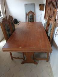 Mesa com 6 cadeiras Madeira de lei cerejeira