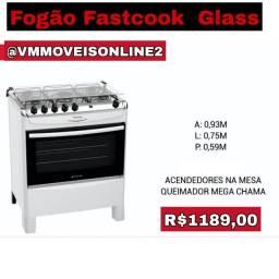 Fogão Fast Cook Glass