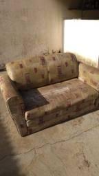 Sofá cama dois lugares (usado - leia descrição)