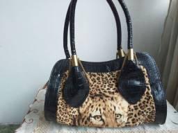 Bolsa de couro legitimo com camurça,  lindo e de boutique