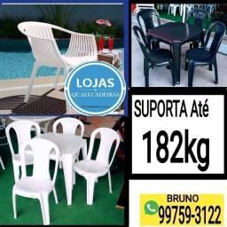 Oportunidade_Cadeira e Mesa Plástica Extra forte 182kg Direto da fábrica