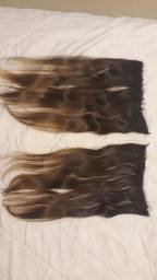 Mega Hair. 4 faixas de cabelo.