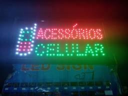 Placa led.Acessório para celular  fachada loja