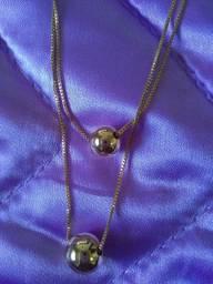 Gargantilha dupla bijuteria
