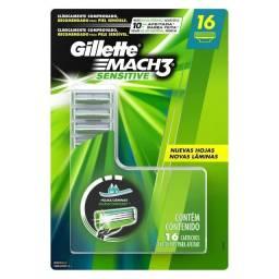 Carga Para Lâmina De Barbear Gillette Mach3 Sensitive 16und