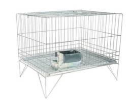 Gaiola para roedores (coelho) usada