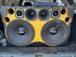 caixa de som completa