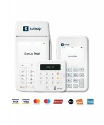 Máquina para aceitar cartões de crédito e débito