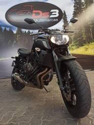 Yamaha  MT07 2020 único dono com apenas 5.000km ñ hornet,xj6,gsr750