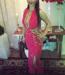 Vestido de luxo longo Coral