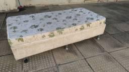 cama base box com colchão solteirão