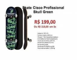 Skate Cisco Profissional Skull Green