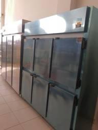 Refrigerador comercial 6 portas inox * cesar