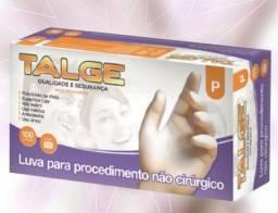 Caixa Luva Vinil Talge procedimento não cirurgico
