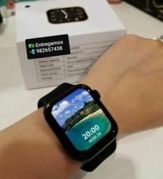 Iwo 13 Pro Max tela Infinita ,Prova D'água , aceita foto de fundo. Smartwatch