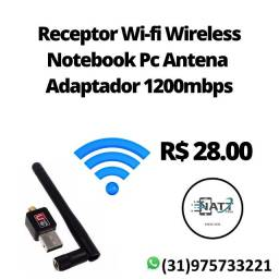 Receptor Wi-fi Wireless Notebook Pc Antena Adaptador 1200mbps