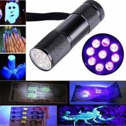 Lanterna Ultra Violeta Notas Falsas e Escorpião