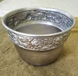 Cachepot banhado a prata - Peça antiga - Aceito oferta