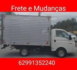 Título do anúncio: Frete e mudanças caminhão baú HR Goiás interiores e cidades todos os estados etc