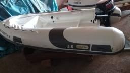Bote Inflável Zefir 3.0 ano 2017 + motor Mercury 9.9hp com 2 horas de uso