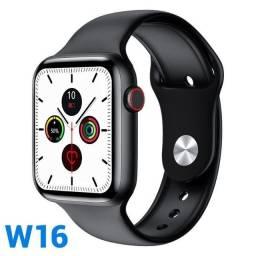 Smartwatch IWO W16 Tela infinita de 1.75 inúmeras funcionalidades (preto)