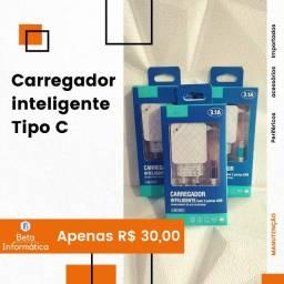 Carregador Inteligente 3.1A Inova - Tipo C