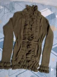 Casaco de Lã Maria Tricot tamanho M