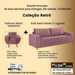 Sofá Madri e Poltrona Valentina, Coleção Retrô com Frete Grátis e Mega Desconto!!!!!
