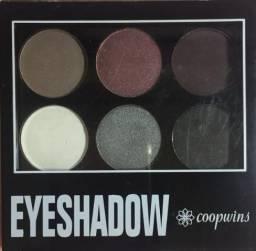 Paleta Sombras Coopwins 6 Cores Eyeshadow Redonda Estojo Espelho