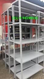 Frete Gratis - Estante de Aço Reforçada - Produto Novo