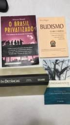 Kit com 4 livros usados em bom estado