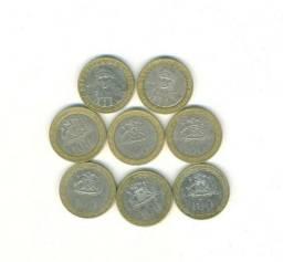 6 moedas 100 pesos chile