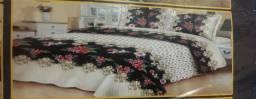 Cobre leito com 2 porta travesseiro