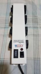 Filtro de linha Profissional com protetor eletrônico com 8 entradas