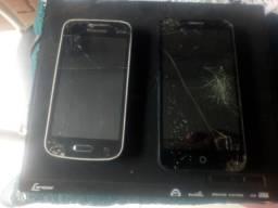 Dois celulares e um DVD