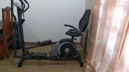 Elíptico e Bicicleta ergométrica - Horizontal Dream.