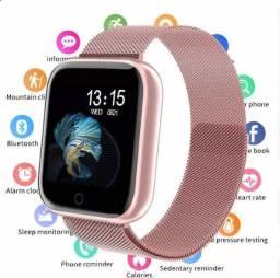 Relógio smartwatch Rose bluetooth monitor pressão TOP