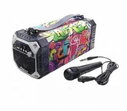 Caixa de Som Bluetooth Portátil Potente 65 Watts RMS com Microfone Xtrad XDG-41